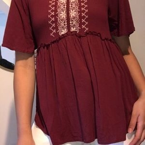 Embroidered top from Target